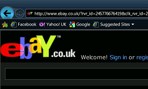 Ebay magnified by SuperNova using IE9