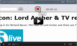 Thumbnail of the Learn SaySo: Bookshelf Reader Basics video