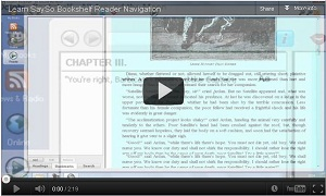 Thumbnail of the Learn SaySo:Bookshelf Reader Navigation video