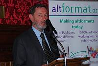 David Blunkett MP speaking at the AltFormat Awards in the House of Commons