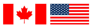 US & Canadian flags