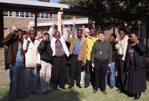 Photo of the students learning how to use Mercury in Pretoria