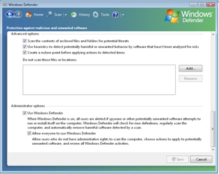 Windows Defender Screenshot