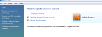 Make Changes to your User Account