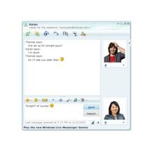 A screenshot of Windows Live Messenger in action.