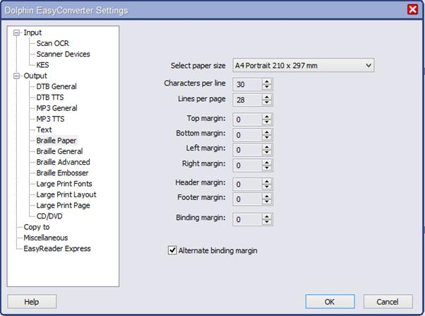 Image of EasyConverter Settings menu