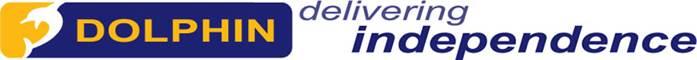 Dolphin logo, delivering independence.