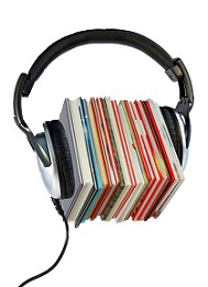 image of a pair of headphones and texbooks