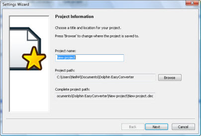 EasyConverter v5.01 New Project screenshot