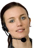 image of lady with a headset