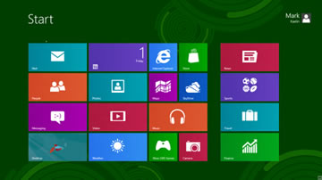 screenshot of the Windows 8 desktop