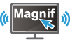 Screen magnifier information