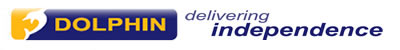 Dolphin - delivering independence, logo with link to home page